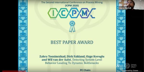 ICPM 2020 Best Paper award